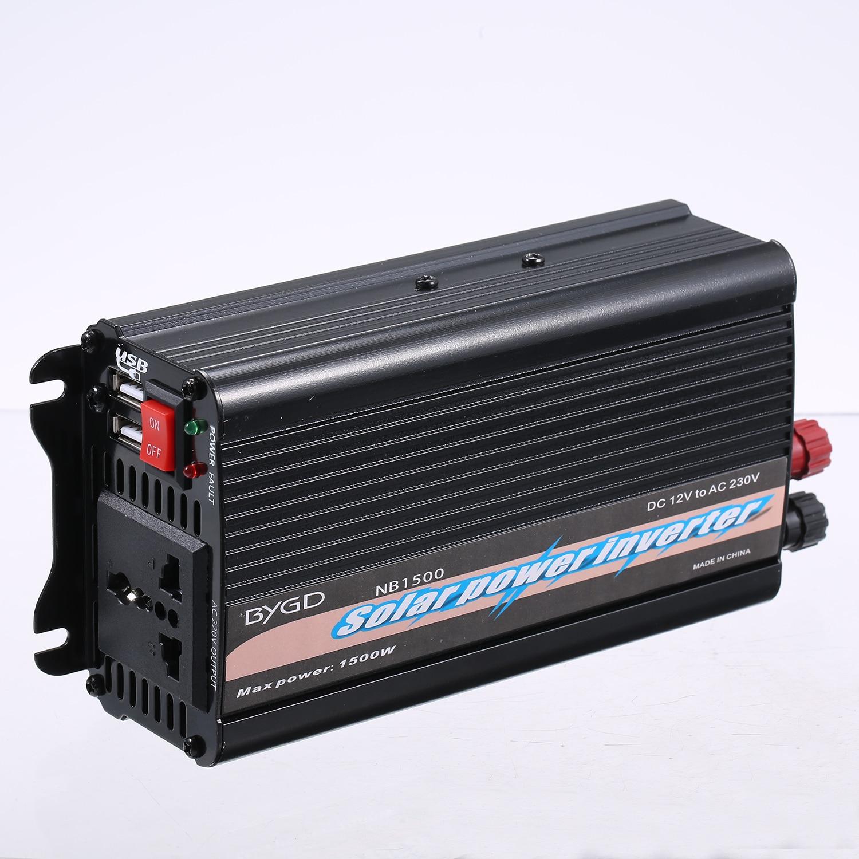 110V Inversor de Salida Estable DC 12V a CA 220V 3000W Inversor de energ/ía convertidor Negro DC 12V a CA 220V Inversor de energ/ía para autom/óvil