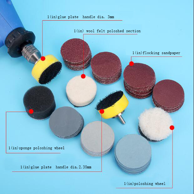 Model Making Tool Electric Grinding Accessory Grinding Sucker Sand Paper Sticky Disk Polishing Wheel