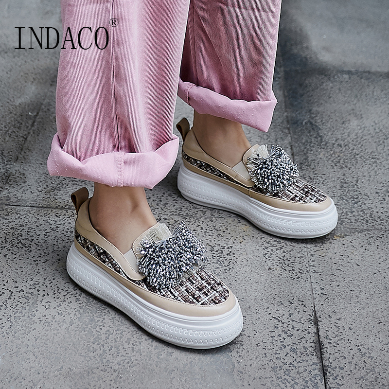 Shoes Woman Sneakers Women 2019 Platform Fashion Designer Leather Causal Shoes Women 6cm