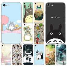 166DD My Neighbor Totoro Studio Ghibli Cut Soft Silicone Cover Case for iphone 5 5s se 6 6s 8 plus 7 7 Plus X XS SR MAX case(China)