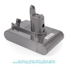 22.2V 3000mAh (sadece Fit tip B ) Li-ion süpürge pil için DC35, DC45 DC31, DC34, DC44, DC31 hayvan, DC35 hayvan ve 2.5Ah