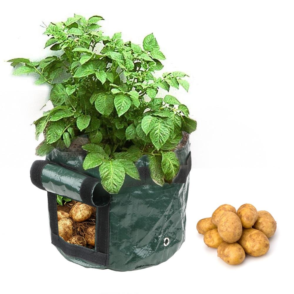 1Pcs Vegetable Plant Grow Bag Planting Container Bag Home Garden Tool DIY Potato Grow Planter Thicken Garden Pot PE Cloth