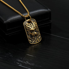 Titanium Chain Necklace Gold Lion Head Pendant Long Choker For Men Fashion Necklaces 2019 Ancient Gothic Jewelry Moda Hip Hop(China)