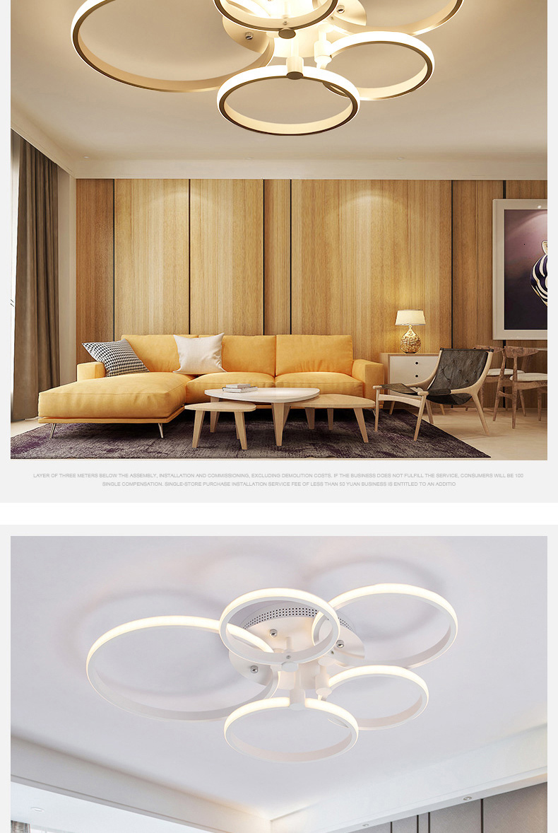 H75024cd8ec684f0b9c9c7efc6b9d0dd9Y Surface mounted modern led ceiling lights for living room Bed room light White/Brown plafondlamp home lighting led Ceiling Lamp