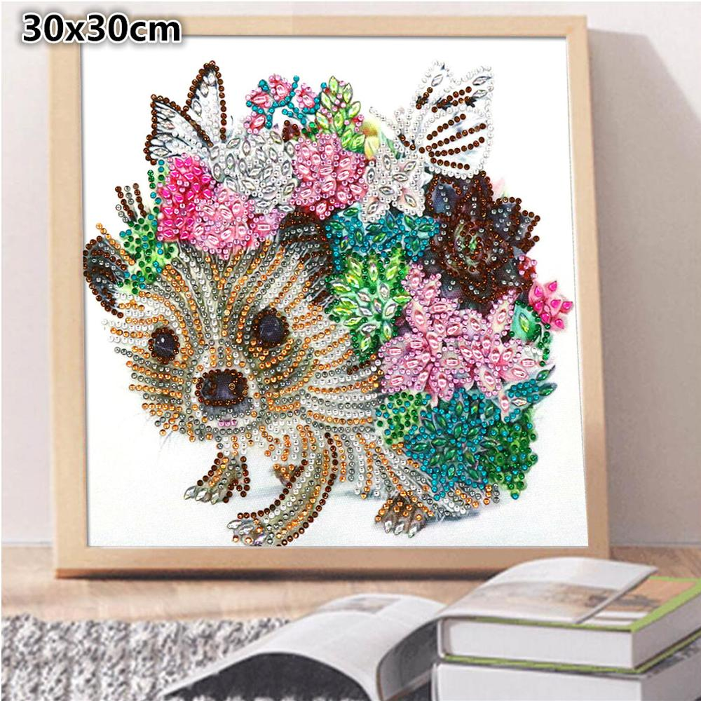 5D DIY Special Shaped Point Drill Diamond Painting Cross Stitch Craft Kits Mosai