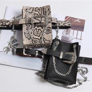 Image 5 - [Eam] 2020 nova primavera verão couro do plutônio personalidade fivela de corrente divisão saco comum cinto duas maneiras usar moda feminina maré jl687