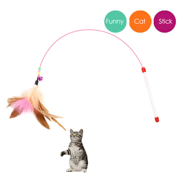 Novel Interactive Toy Plush Replacement Without Stick Kitten Pet Dog Funny Play Children Interactive Feather digital interactive installations