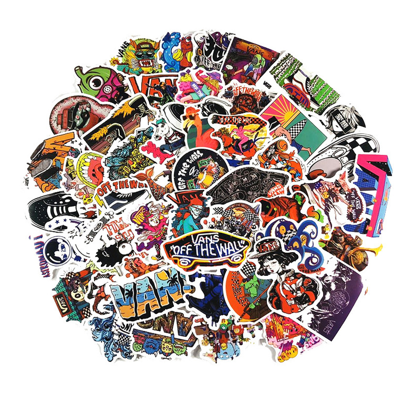 100 PCS Vans Stickers For Scrapbooking Laptop Guitar Skateboard Suitcase Decal Animal Puppy Sticker