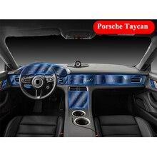 Für Porsche Taycan 2020 Transparente Schutz Film Auto Dashboard Navigation Bildschirm Kratzfest Hoch Elastische TPU Aufkleber