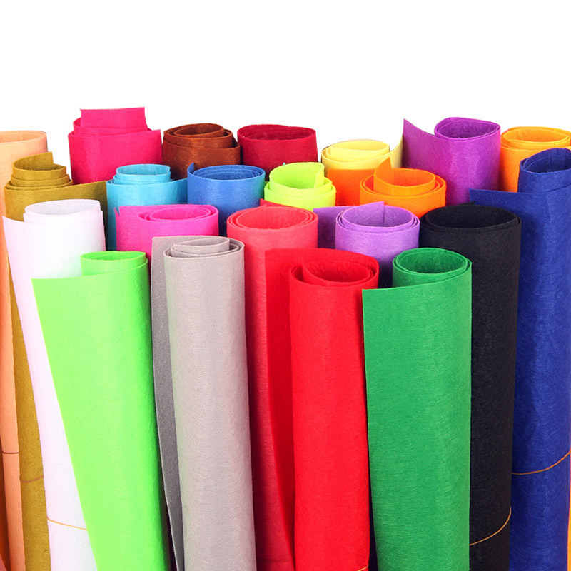 DIY Production Colorful Fabric  1mm Thickness Handicraft Class Scrapbook Manual Course Materials Home Sewing Felt Cloth 40*50cm