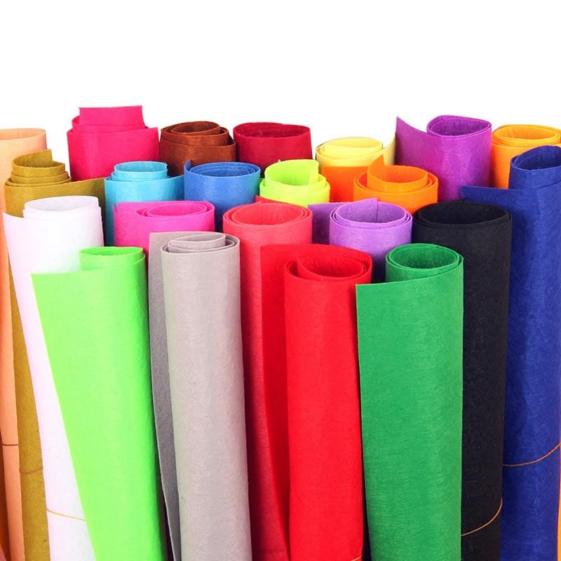 Tissu coloré pour la Production de bricolage | Épaisseur de 1mm, matériaux de cours manuels pour Scrapbook, couture à la maison, tissu feutré 40*50cm