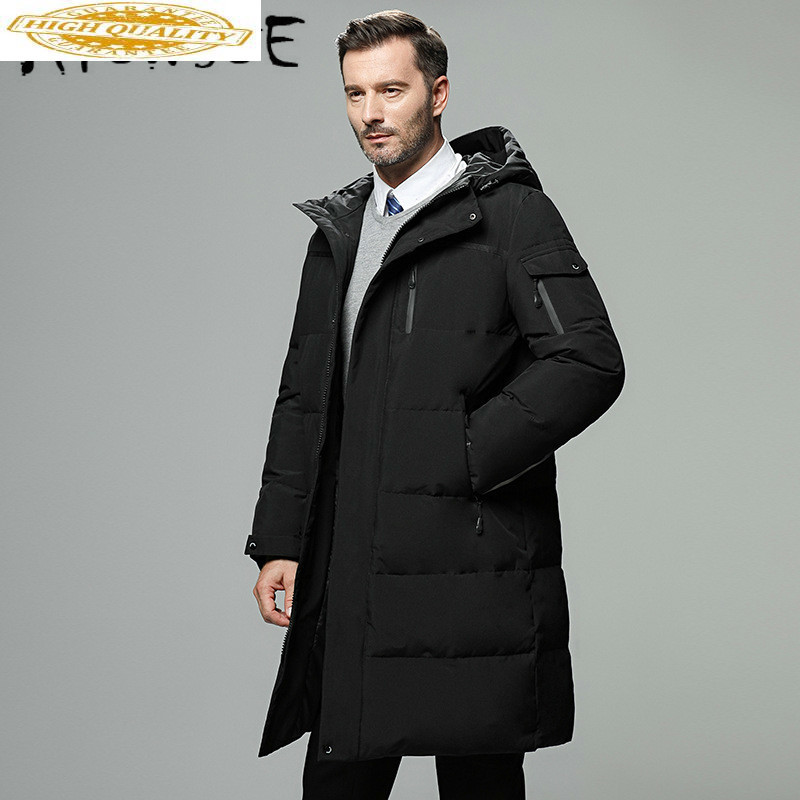 90% White Duck Down Coat Winter Coat Men Plus Size Long Puffer Jacket Warm Parka Down Jacket Doudoune Homme 866 YY1344