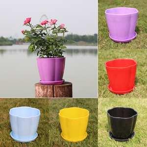 Garden Planter Flower-Pot Imitation-Porcelain Succulent Plastic Pumpkin-Shape