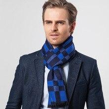 New Autumn And Winter Mens Scarf Plaid Imitation Cashmere Leisure Warm Business Trend Neckline DZ0068