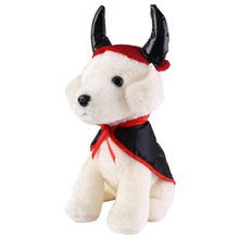 Halloween Pet Costumes for Dogs/ Cats One Set Cosplay Cloak and Hat Dog Cat Decorative Cap  Cape Supplies