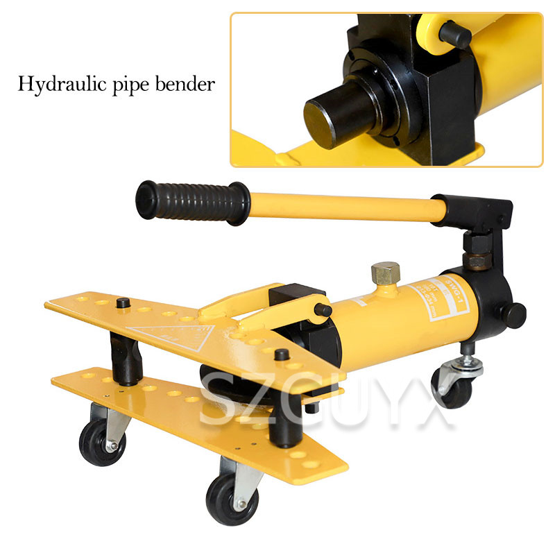 Small Manual Hydraulic Pipe Bender Multifunction Stainless Steel Galvanized Pipe Steel Pipe Iron Tube Bending Machine