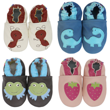 carozoo kids First Walkers baby boy shoes Soft Leather handmade Slippers