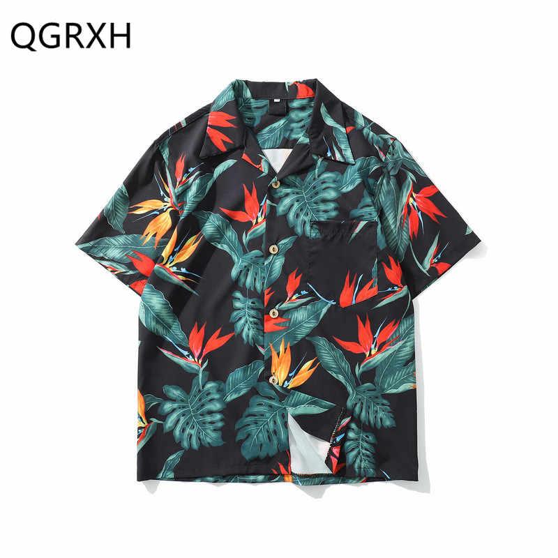 Camisas hawaianas de Aloha hombres mujeres 2019 verano Hip Hop Streetwear Harajuku camisetas Casual Vintage de manga corta Tops camiseta de playa