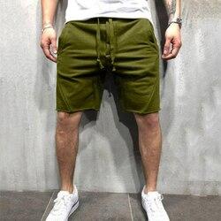 Casual Men Shorts Streetwear Joggers Shorts Solid Color Short Pants Workout Shorts Men Summer cotton Male Bottom pants Plus Size
