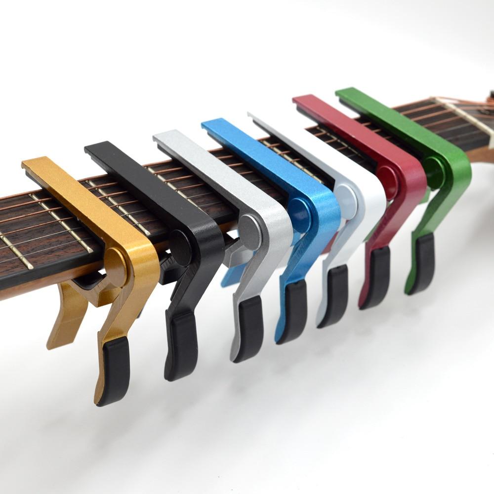 Universal Capo Guitar Accessories Quick Change Clamp Key Aluminium Alloy Metal Acoustic Classic Guitar Capo for Guitar Parts