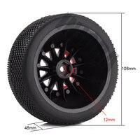INJORA 4PCS RC Car Beadlock Rubber Tires Wheel Rim Set for 1/10 Short Course Truck Traxxas Slash 4x4 VKAR 10SC HPI 3