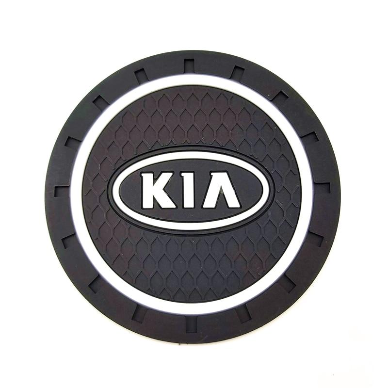 Car Pvc Non-slip Coaster Mat Sticky Pad Automobiles Interior Coaster Non Slip Mat For Kia Sportage 3 4 QL Rio K3 K5 Optima Soul