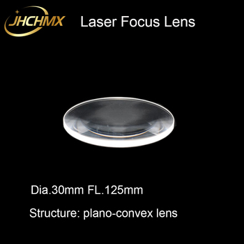 JHCHMX High Quality Laser Plano-convex Focus Lens Dia.30mm FL.125mm Fused Silica for Laser Cutting Machine IPG Laser Spare Parts