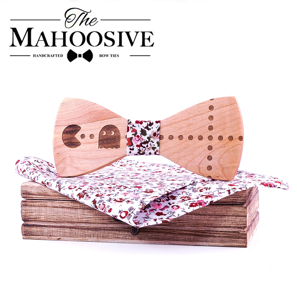 New Wood Bow Tie Cartoon Bowties Men Fashion Decor Outstanding Neckwear Casual Mens Business Bow Tie For Men Party Cravat