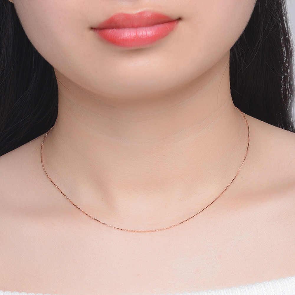 100% véritable 925 en argent Sterling colliers pour femmes boîte chaîne collier pour pendentif en gros Lots Syster cadeaux d'anniversaire