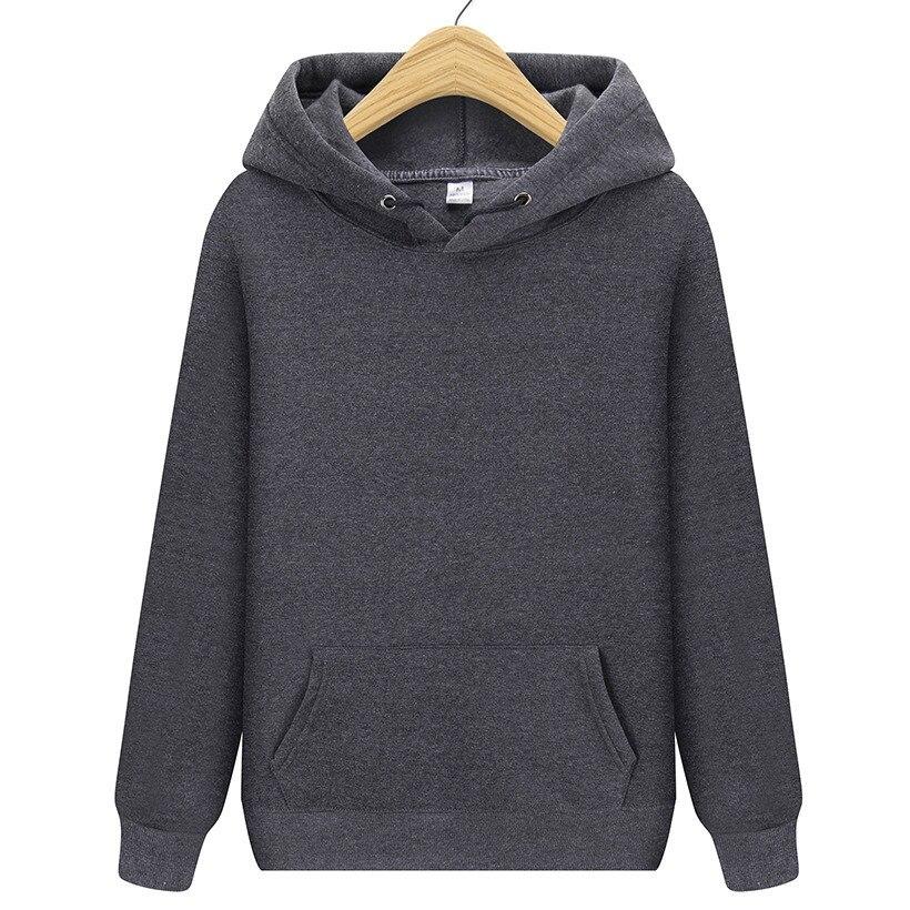 New Fashion Brand Men Hoodie Sweatshirt Solid Color Men's Streetwear Hip Hop Sweatshirts Men/Women Navy Blue Dark Gray Hoodie