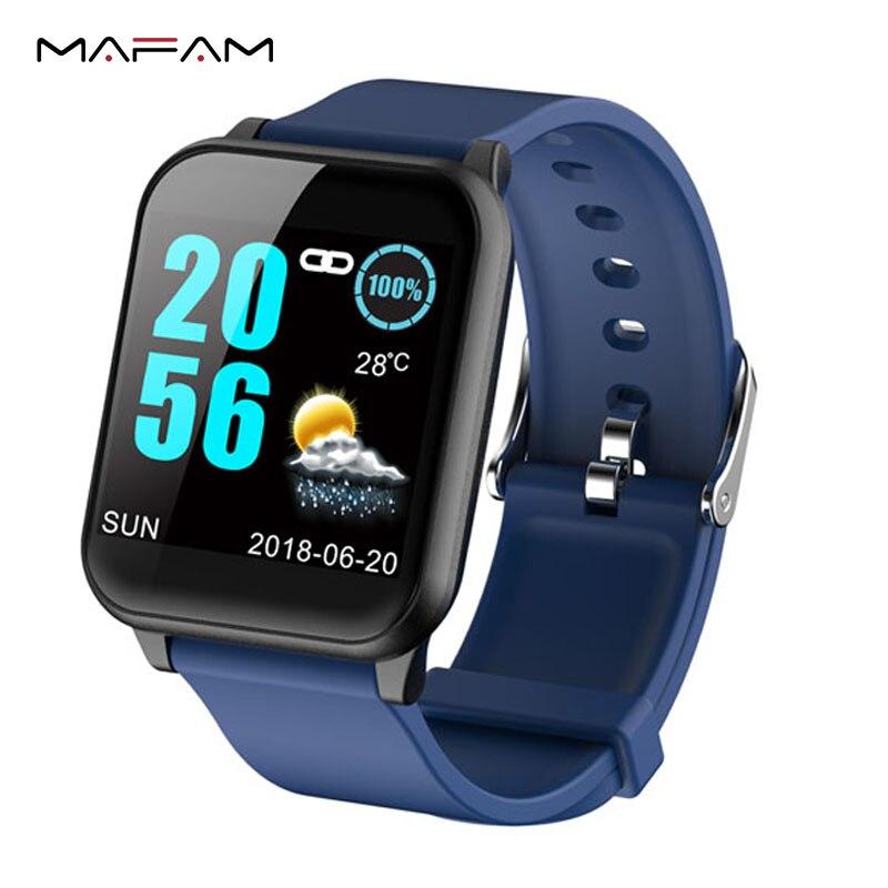 MAFAM Z02 Smart Bracelet Fitness Tracker podómetro PPG Monitor de ritmo cardíaco banda inteligente Sport IP67 reloj impermeable para Android iOS Correas de reloj Retro de cuero genuino para hombres y mujeres 18mm 20mm 22mm 24mm suave correa de reloj de ante de Metal accesorios con hebilla KZSD05
