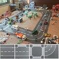 Stadt Straße Grundplatte Gerade Kreuzung Kurve T-Junction-Bausteine Basis Platten Bau für Kinder Kinder Geschenk