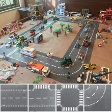 City Road Street płyta bazowa prosta krzyżowa krzywa t-junction klocki płyty bazowe budowa dla dzieci prezent dla dzieci