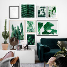 Cactus Banana Palm Leaves Nordic Posters And Prints Wall Art Canvas Painting Tropical Plants Wall Pictures For Living Room Decor(China)