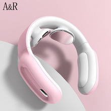 Smart Electric Neck Shoulder Massager Health Care Pulse Pain Relief Magnetic Therapy Cervical Vertebra Physiotherapy Relaxation