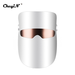 CkeyiN LED Face Mask Skin Care LED Mask Photon Light Therapy Skin Rejuvenation Anti Aging Wrinkles Toning USB Rechargeable 48