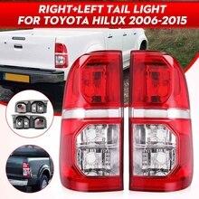 Пара автомобиля задний светильник фонарь стоп-сигнала Хвост светильник сигнала для Toyota Hilux 2005 2006 2007 2008 2009 2010 2011 2012 2013 2014 2015