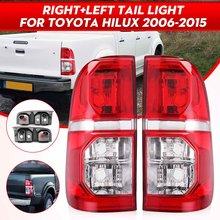Par luz da cauda traseira do carro lâmpada de freio luz traseira sinal para toyota hilux 2005 2006 2007 2008 2009 2010 2011 2012 2013 2014 2015