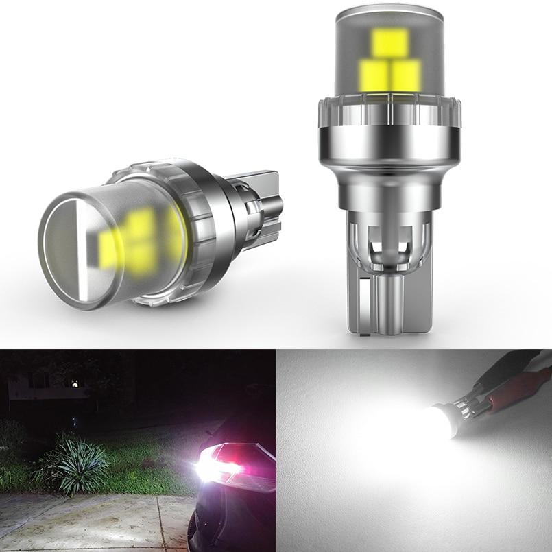 2 шт. W16W T15 светодиодный светильник лампы WY16W 912 921 светодиодный резервные фары заднего хода автомобиля светильник s задние фонари супер яркий ...