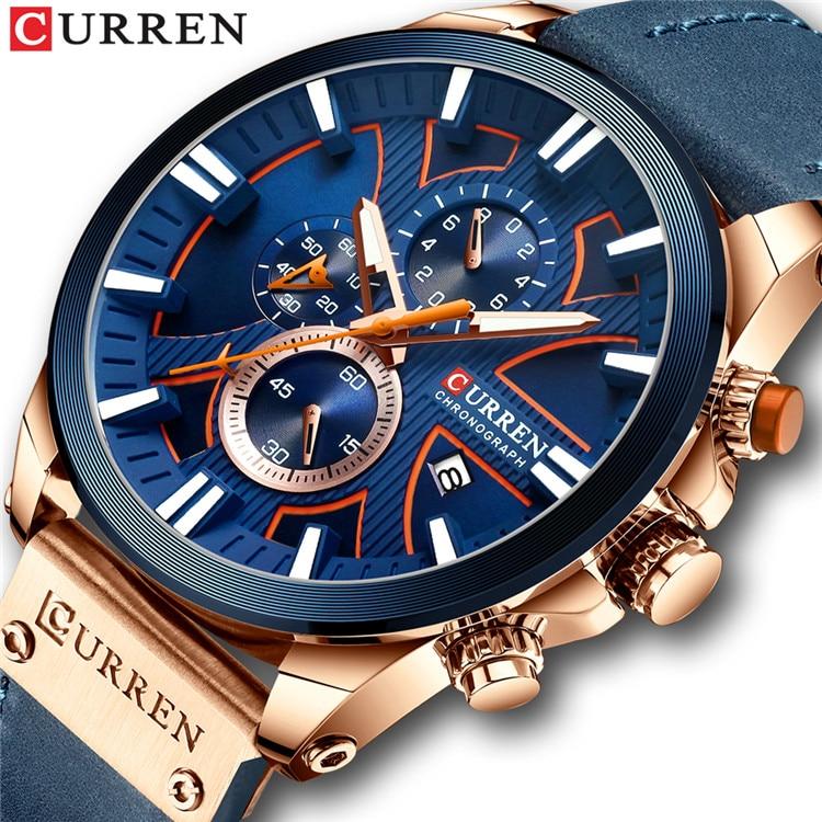 New CURREN Men Watches Fashion Quartz Wrist Watches Men's Military Waterproof Sports Watch Male Date Clock Relogio Masculino 7