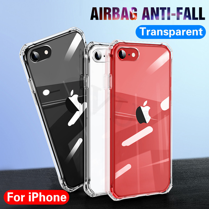 Luxury Shockproof Silicone Phone Case On The For iPhone 11 Pro X XR XS MAX 6 7 8 SE 2020 Cases Transparent Protection Back Cover