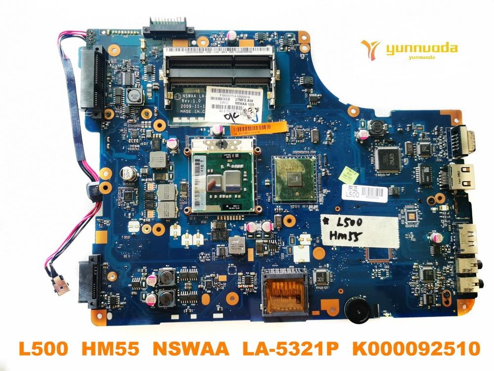Original for Toshiba L500 laptop motherboard L500  HM55  NSWAA  LA-5321P  K000092510 tested good free shipping