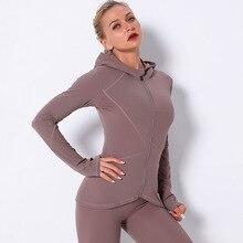 Yoga-Tops Sports-Jacket Fitness Long-Sleeve Zipper Women Quick-Drying