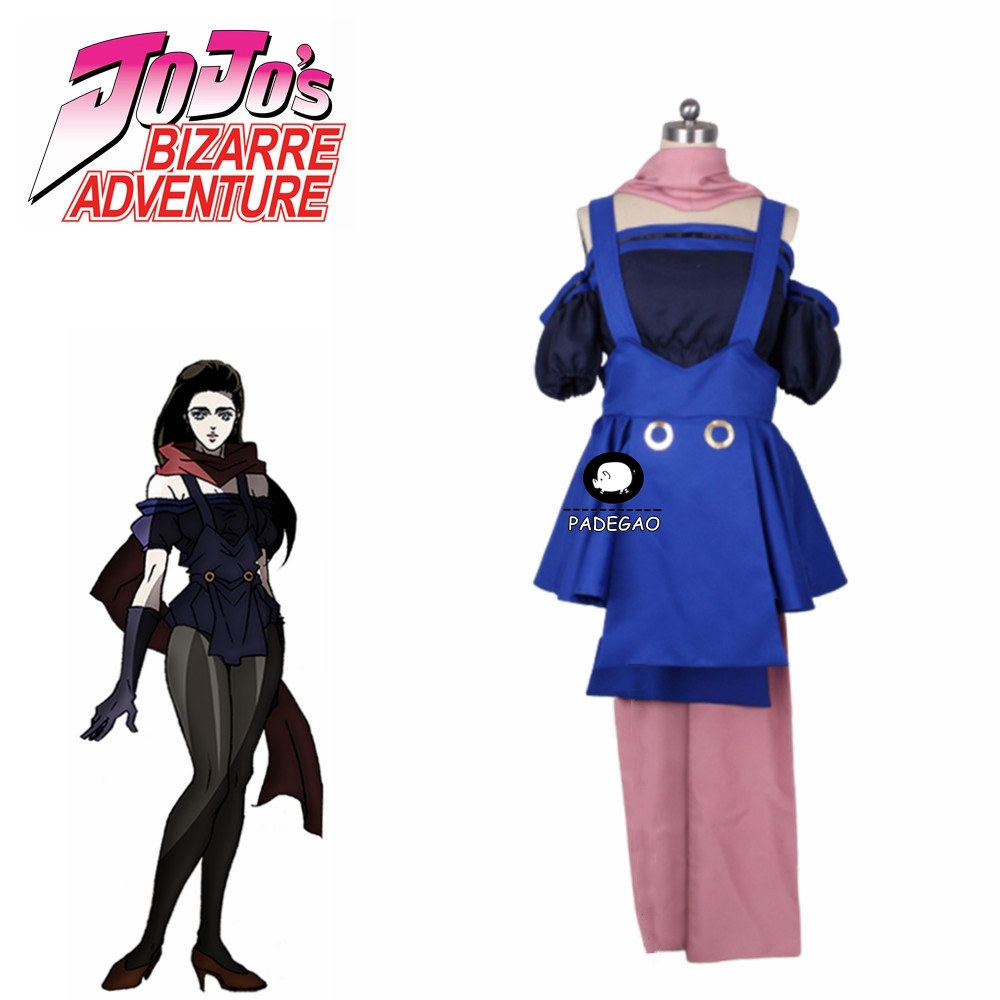2020 New JoJo's Bizarre Adventure Battle Tendency Lisa Lisa Cosplay Costume Halloween Party Christmas Uniform Outfit