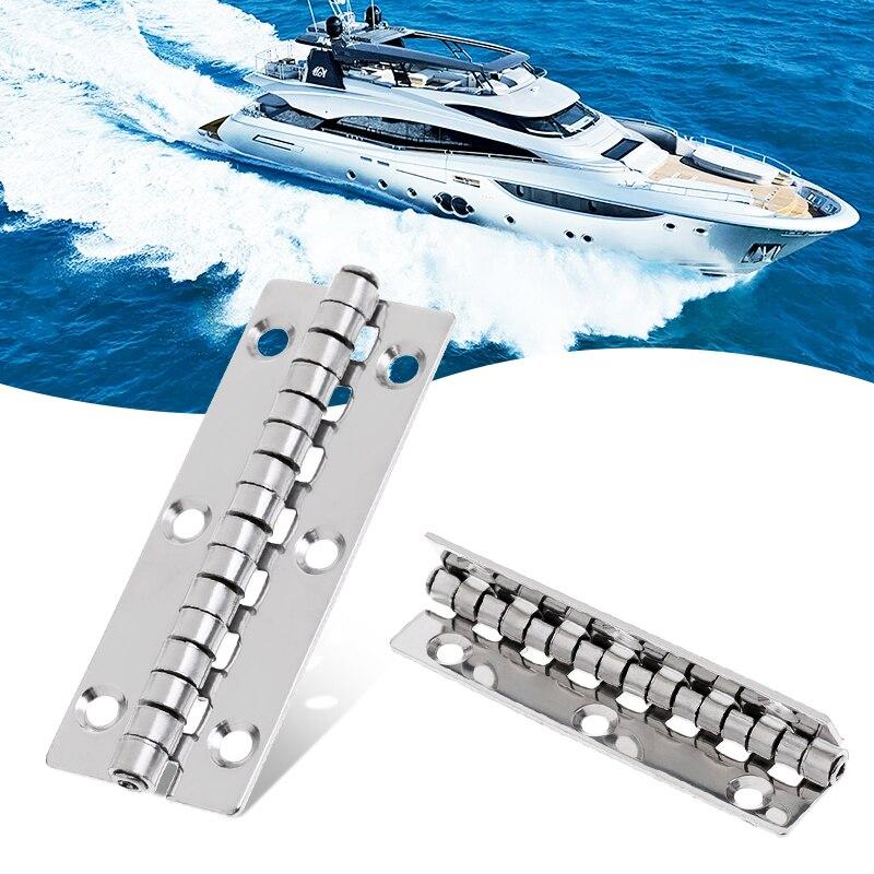 1 個ステンレス鋼マリンボートヨットドア/ハッチピアノヒンジデッキキャビンヒンジハードウェアのスムーズなピボット 3.15 × 1.18 インチ