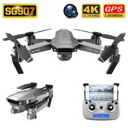 SG907 Drone GPS 4K HD 50X Zoom szerokokątny podwójny aparat 5G WIFI FPV składany Selfie drony profesjonalny śledź mnie zdalnie sterowany quadcopter w Drony z kamerą od Elektronika użytkowa na