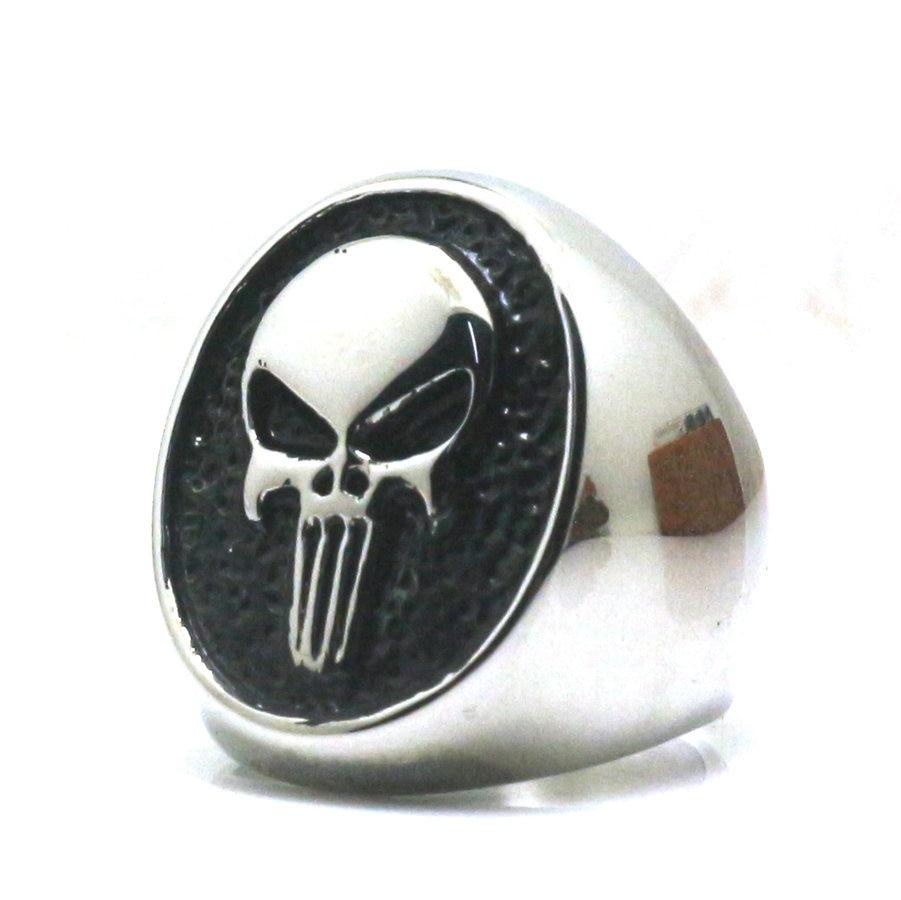 Anéis de aço inoxidável do crânio do vintage festa da motocicleta steampunk legal estilo gótico biker dedo crânio anéis para homem jóias