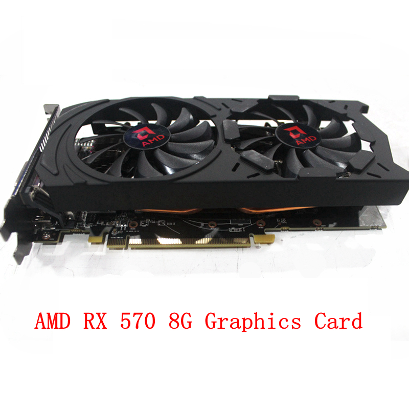 Winter Clearance Sale PC Graphics Card RX 570 8G Mining rig GPU AMD Chip 2060MHz ETH Zec Miner Video Card Dual Cooling Fans 4PCS