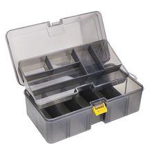 Storage-Box Arrange-Case Organize Dual-Layer-Tool Plastic Multifunctional Fishing-Lure