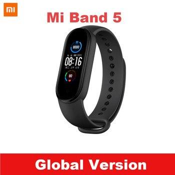 Nave veloce Globale Versione Xiaomi Mi Banda 5 Braccialetto Intelligente Miband 5 Smartband Per Il Fitness Traker Bluetooth di Sport Impermeabile Banda Intelligente 1